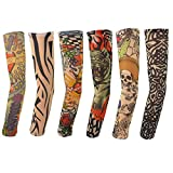Marrywindix 6pcs Temporary Fake Slip on Tattoo Arm Sleeves Stockings,Amazing Fashion Design for You