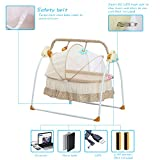 Decdeal Electric Baby Portable Bassinet
