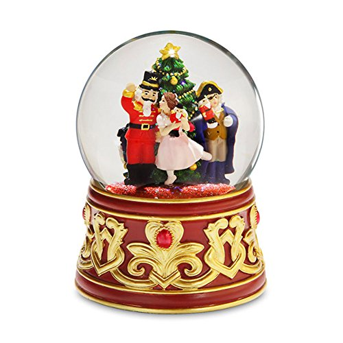 Francisco Glass Music Box (Nutcracker with Jeweled Base Water Globe by San Francisco Music)