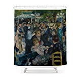 Society6 Auguste Renoir - Dance At Le Moulin De La Galette Shower Curtain 71'' by 74''