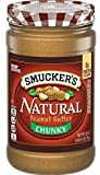 Smucker's Natural Chunky Peanut Butter, 26 Ounce (Pack of 6)