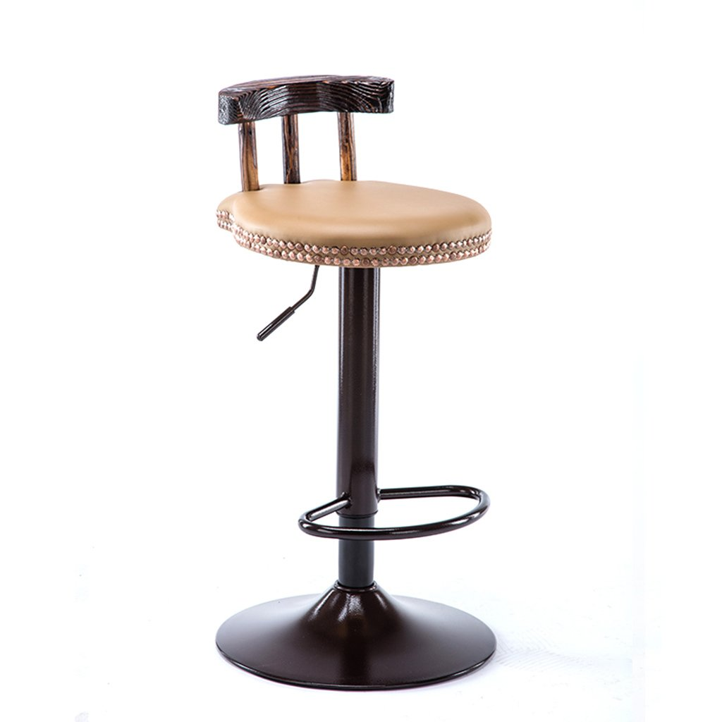 D RFJJ Retro High Stool Home Chair Bar Stool Bar Stool Metal High Chair Front Decoration Stool Lifting Stool redating Lift Stool (color   A)