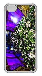 iPhone 5C Case, Personalized Custom Father Christmas 2 for iPhone 5C PC Clear Case