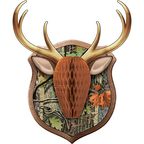 Creative Converting 995676 1 Piece Deer Hunting Camo Wall Decoration, One Size, Multicolor