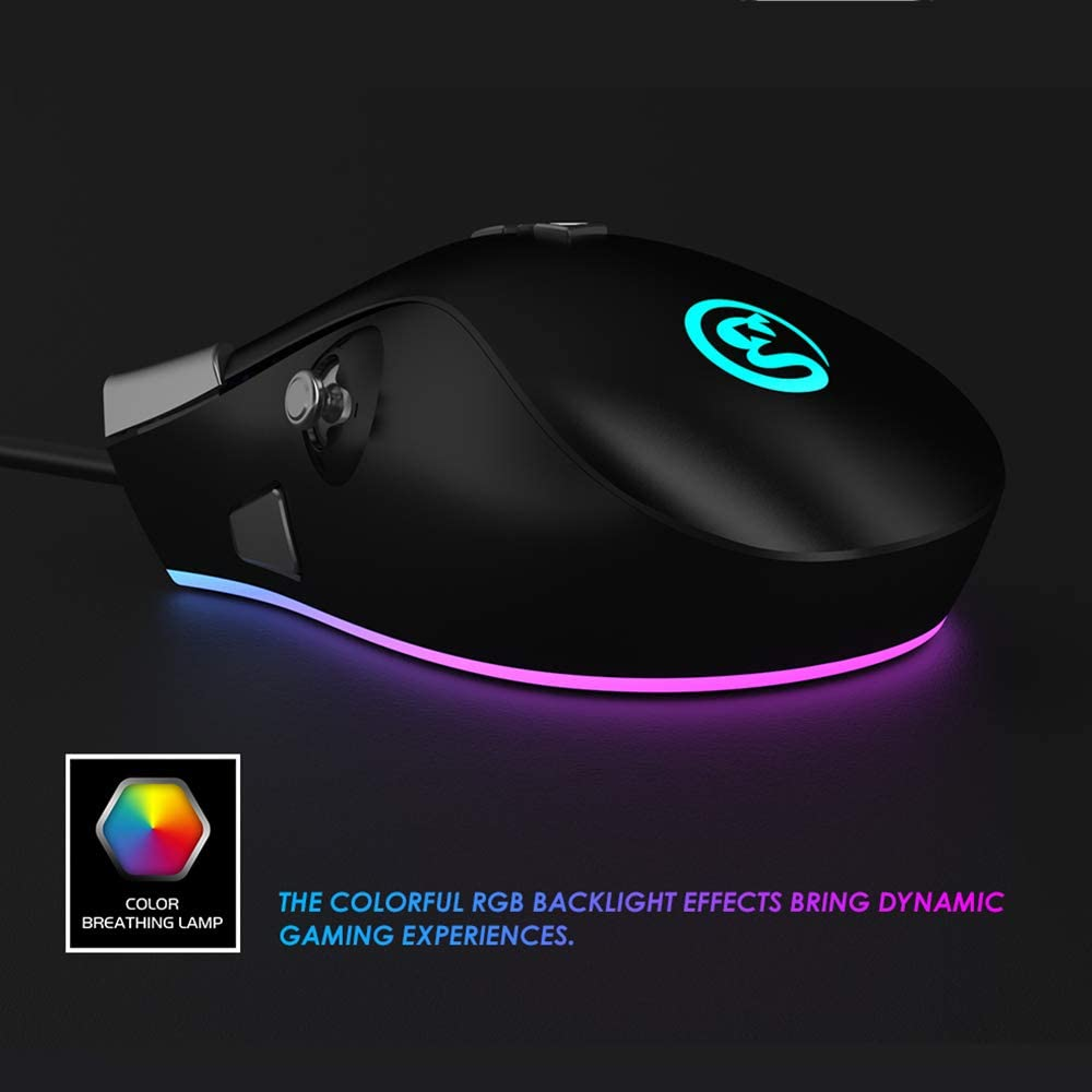 GameSir GM200 Wired Gaming Mouse with 6 Buttons and 1 Joystick E-Sport Game Mouse 4 Level DPI for Windows PC