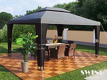 Pavillons Kaufen Eigenschaften : Amazon.de: luxus rattan pavillon schwarz anthrazit