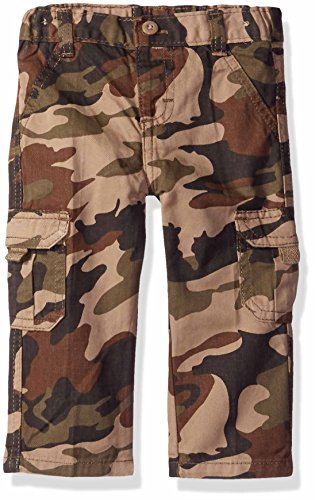 Wrangler Authentics Infant & Toddler Boys' Cargo Pant, Dark Khaki Camo, 5T