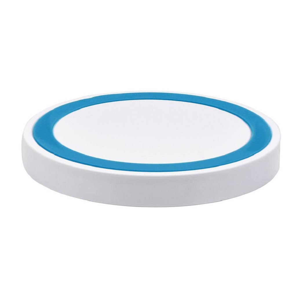 Portable Ultrathin Qi Wireless Power Fast Charger Charging Pad For Iphone 8 / 8 Plus / X/10/Samsung Galaxy S8/Note 8,FCC Certificated,Tuscom (Blue) by Tuscom (Image #2)