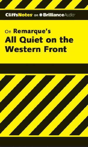 All Quiet on the Western Front (Cliffs Notes Series)