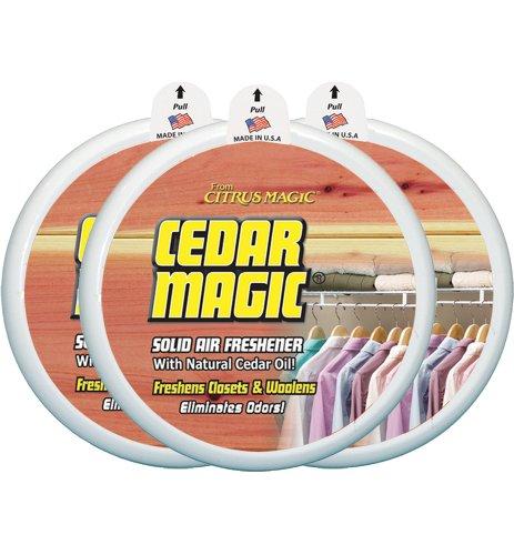 Citrus Magic Solid Air Freshener Cedar, Pack of 3, 8-Ounces Each
