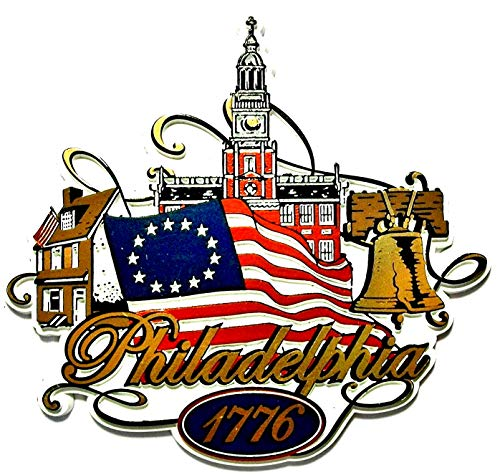 Flag Refrigerator Magnet - Philadelphia Pennsylvania 1776 with Flag Fridge Magnet