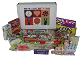 60th Birthday Gift Box of Retro Candy from Childhood - Peace, Love and Happiness