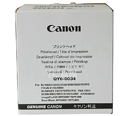 Canon Printhead Qy6-0034 for Bj S6300/s600/s630/s500/s530/535pd Pixus 6100i/6500i Multipass C50/c70/f50/f30 Fax-c855 Image Class Mpc600f/mpc400 Smartbase Mpc600f/mpc400