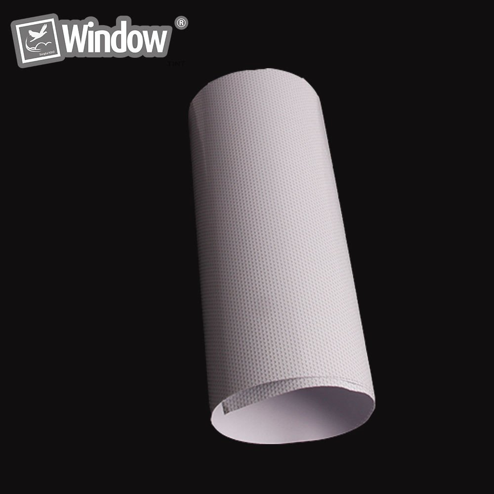 HOHO 1.37mx10m White One Way Perspective Window Film Mesh Film Perforated Posting Film