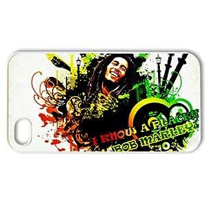 CTSLR Music & Singer Series Protective Snap-on Hard Back Case Cover for iPhone 4 & 4S - 1 Pack - Bob Marley & Rasta, Reggae - 19