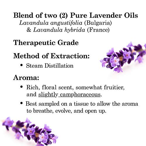 Majestic Pure Lavender Oil, Natural, Therapeutic Grade, Premium Quality Blend of Lavender Essential Oil, Set of 2 4 fl. Oz by Majestic Pure (Image #5)