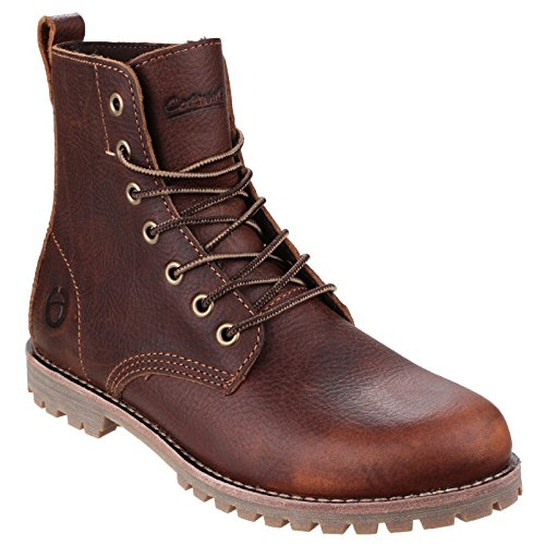 Cotswold Womens/Ladies Elm Waxed Leather Walking / Combat Boots Brown
