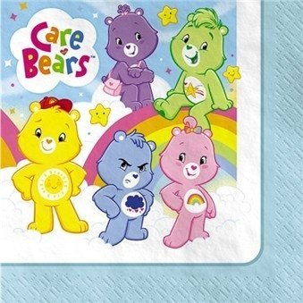 Bear Oopsy Care (Factory Card and Party Outlet Care Bears Beverage Napkins 16ct)