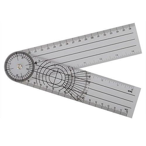 Tutoy Profesional 360 Grado Multi-Regla Goni/ómetro /Ángulo Espinal Regla