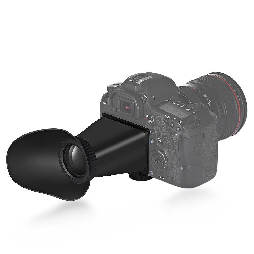 Muicatte V6 - Visor LCD (2,5 aumentos, para cámara réflex Canon ...