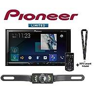Pioneer AVH-2440NEX 7 DVD Receiver Apple CarPlay w/SV5130IR License Plate Back Up Camera and a SOTS Lanyard