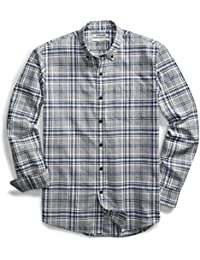 Men's Standard-Fit Plaid Oxford Shirt