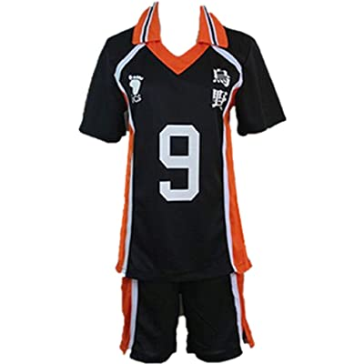 Haikyu!! Haikyuu Karasuno High School Uniform No. 9 Tobio Kageyama Cosplay Costume: Clothing