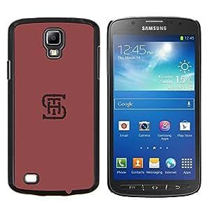 TECHCASE---Cubierta de la caja de protección para la piel dura ** Samsung Galaxy S4 Active i9295 ** --S H T iniciales cartas minimalista color rojo granate