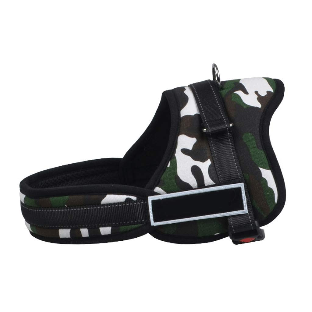 B L B L Training Pet Chest Straps in Large Dogs to Adjust Dog Collar Black (color   B, Size   L)
