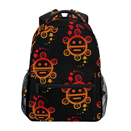 Stylish Puerto Rico Taino Sun Backpack- Lightweight School College Travel Bags, ChunBB 16