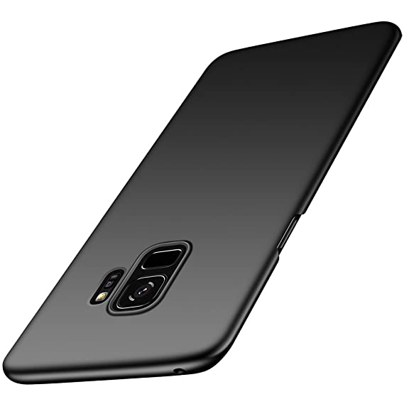 best website e0a8a 5c12f anccer Colorful Series for Samsung Galaxy S9 Case Ultra-Thin Fit Premium PC  Material Slim Cover for Samsung S9 (Black)
