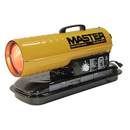 Master MH-75T-KFA Kerosene Forced Air Heater with Thermostat, 75,000 BTU