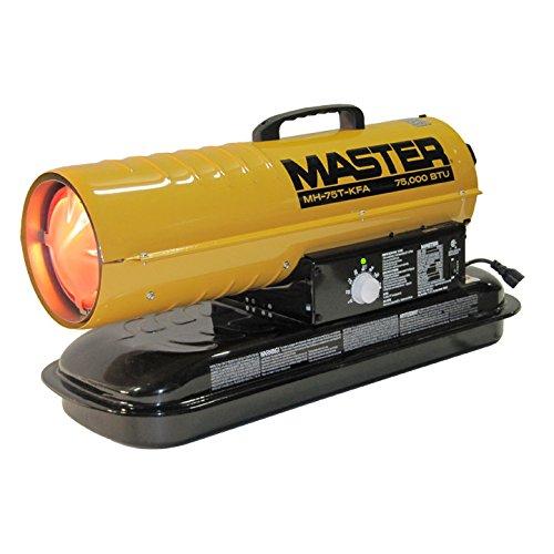 Master MH-75T-KFA Kerosene Forced Air Heater with Thermostat, 75, 000 BTU:  Diesel Heater: Amazon.com: Industrial & ScientificAmazon.com