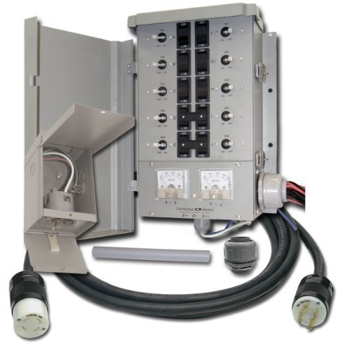 EmerGen EGS107501G2KIT Switch 10-7501G2, Detailed Instructions, Pi30 Power Inlet Box, Flexible Conduit, Liqui Tight Fitting and 10-Feet Power Cord by EmerGen