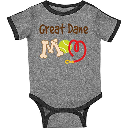inktastic - Great Dane Infant Creeper 18 Months Ringer Heather and Smoke f99d