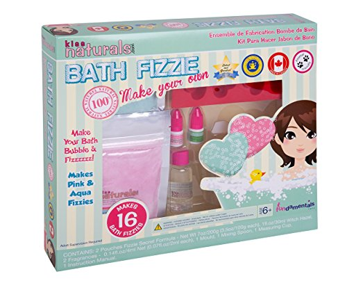 Bath Fun Kit (Kiss Naturals: Bath Fizzie Making Kit - All Natural, DIY)