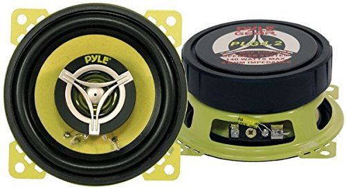 Car Two Way Speaker System - Pro 4 Inch 140 Watt 4 Ohm Mid Tweeter Component Audio Sound Coaxial Speakers For Car Stereo w/ 20 Oz Magnet, 1.85