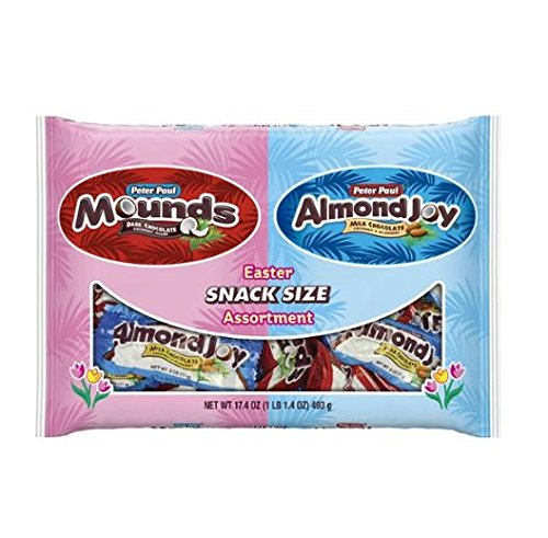 Peter Paul Mounds & Almond Joy Snack Size Candy Assortment, 17.4 ()