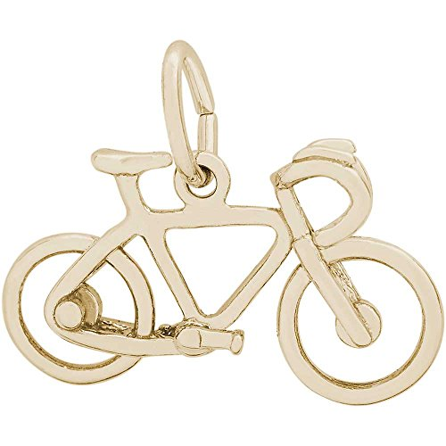 Rembrandt Charms Bicycle Charm, 14K Yellow Gold