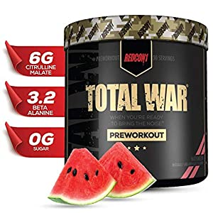 Redcon1 Total War – Pre Workout, 30 Servings, Boost Energy, Increase Endurance and Focus, Beta-Alanine, Caffeine (Watermelon)