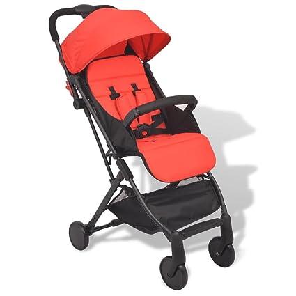 vidaXL Sillita/Carrito de Paseo Bebes con Dimensiones 89x47,5x104 cm Color Rojo