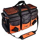 """KastKing Fishing Tackle Bags, Fishing Gear Bag, Saltwater Resistant Tackle Bag,Extra-large Hawg (C: Extra-large Hawg (Without Trays, 26.4""""x11""""x15.4""""))"""