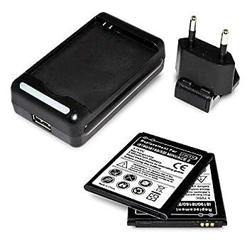 Cargador Externo + 2x Bateria Compatible con Samsung Galaxy S3 Mini i8190 / ACE 2 i8160