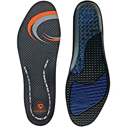 Sof Sole Insoles Men's AIRR Performance Full-Length Gel Shoe Insert, Men's 13-14 Black