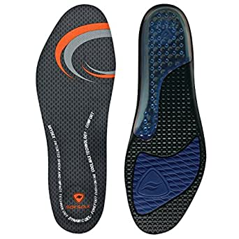 Sof Sole Airr Full Length Performance Gel Shoe Insole, Men's Size 7-8.5 Black
