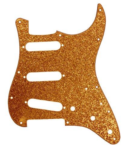 (D'Andrea Strat Pickguards for Electric Guitar, Gold Sparkle)