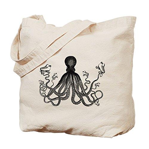 CafePress–octo-quad negro–gamuza de bolsa de lona bolsa, bolsa de la compra