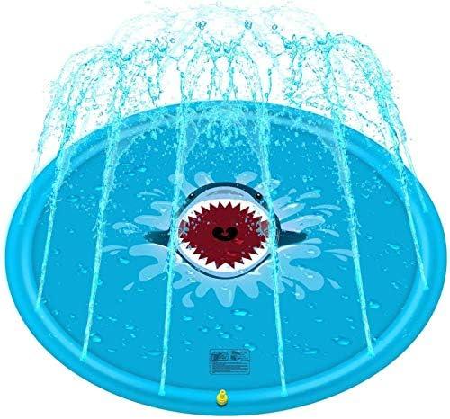 """スプリンクラーパッド&スプラッシュプレイマット67""""子供のスプリンクラー屋外水おもちゃパーティースプリンクラーグッズ"""