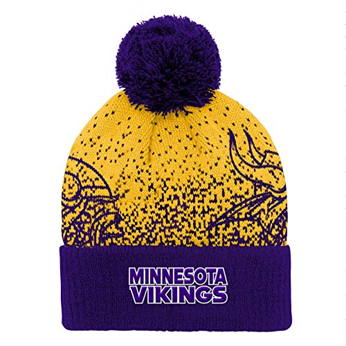 - Outerstuff NFL Minnesota Vikings Youth Boys Gradient Jacquard Cuffed Knit Hat Regal Purple, Youth One Size