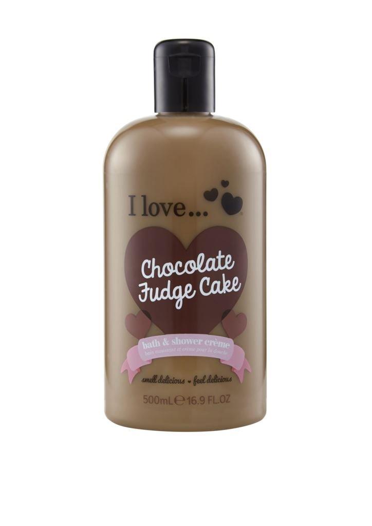 I Love bath shower 500ml Chocolate Fudge Cake